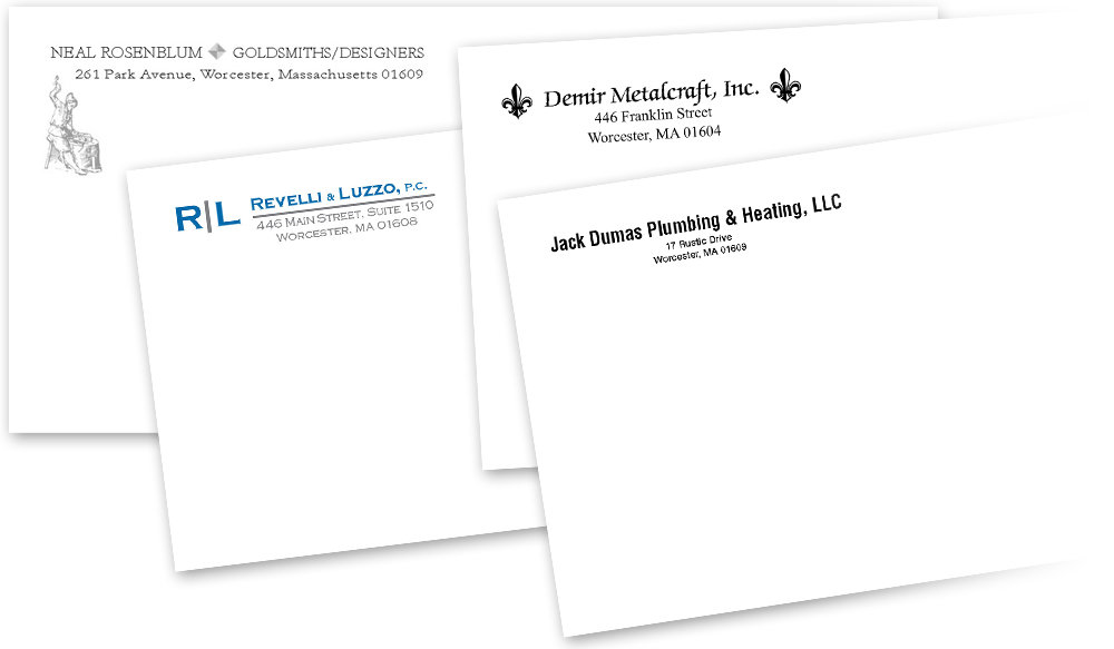 Example corporate envelope designs