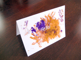 Example personalized card made with a child's artwork