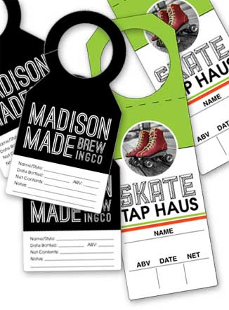 Example beer bottle tag designs